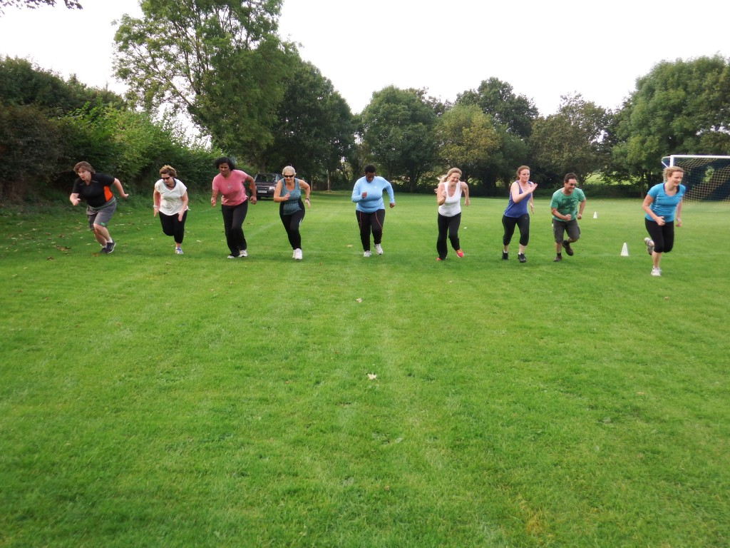 track & field session at fitness bootcamp dorset